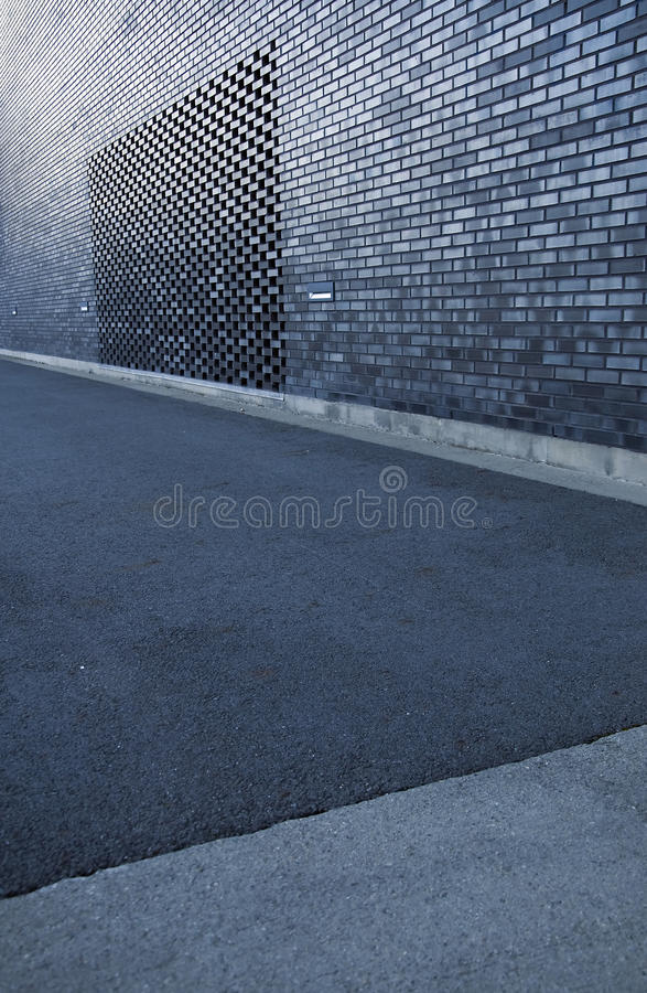 The road and the modern construction royalty free stock photo