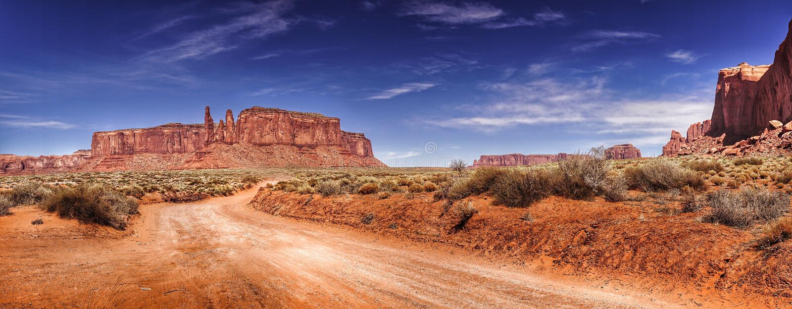 Road in monument Valley stock photo