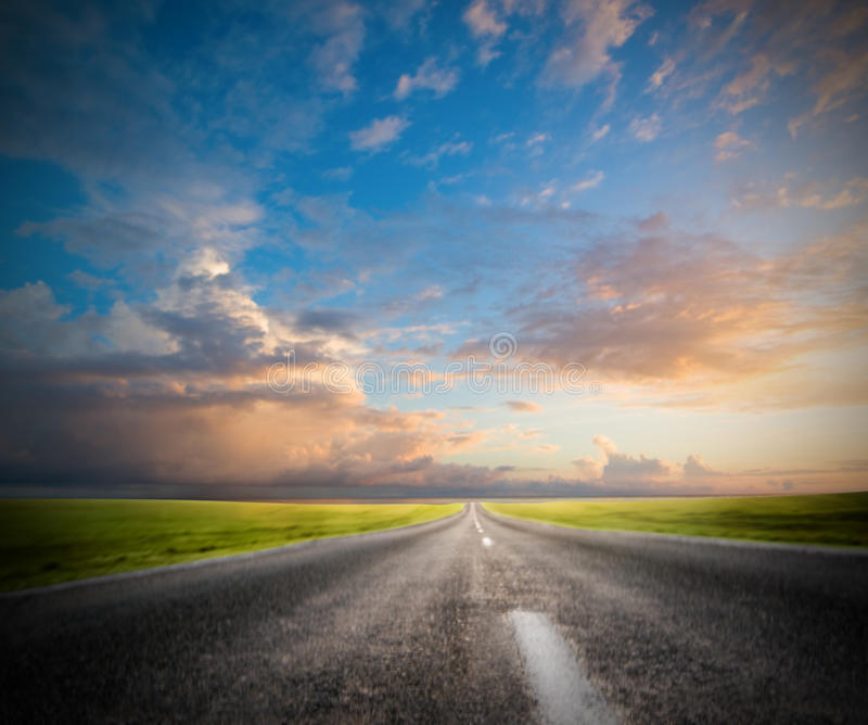 Download Road in motion stock image. Image of highway, cloud, green - 15510327