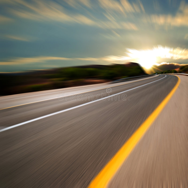 Road in motion stock photos