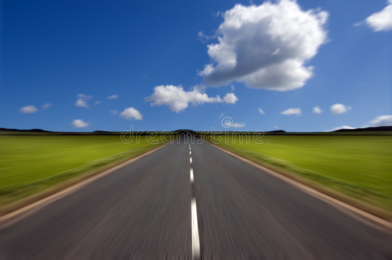 Road with motion blur stock photography