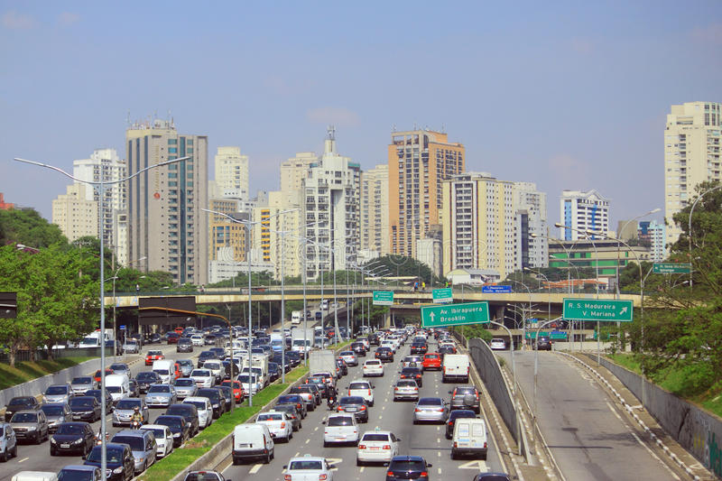 Road motion in Sao Paolo, Brazil royalty free stock photos