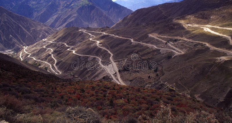 Road In The Mountain Royalty Free Stock Photos