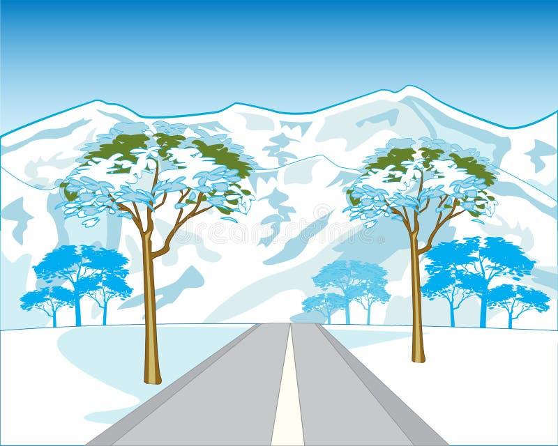 Road in mountain vector illustration