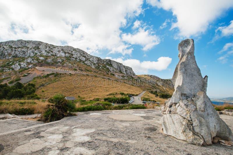 Road In Mountain At Mallorca Island Stock Image