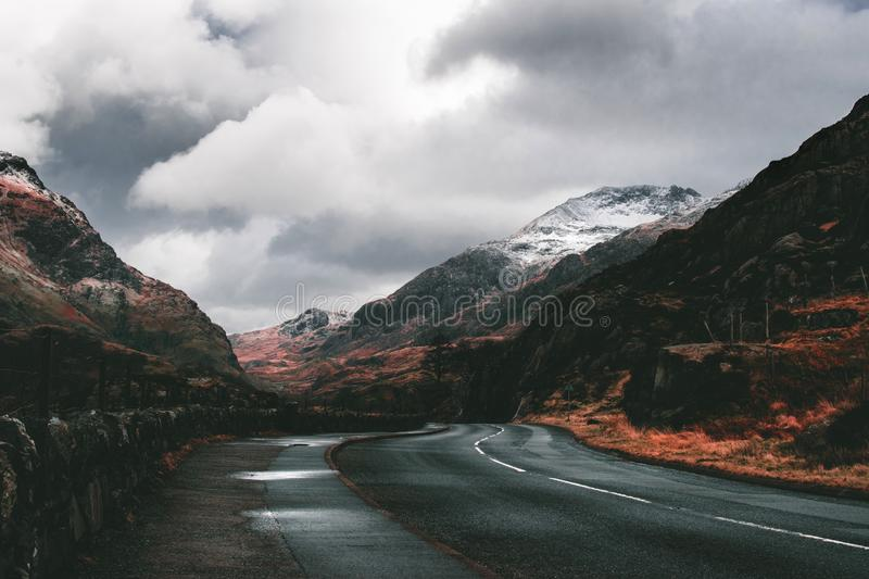 Road Between Mountains royalty free stock image