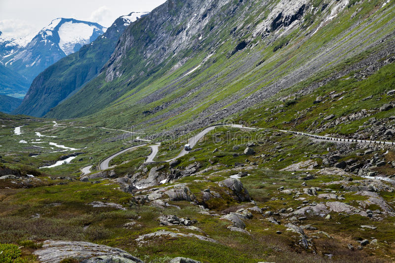Road in the mountains. Of Norway stock image