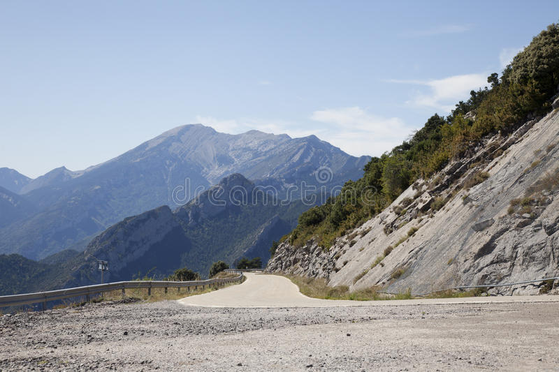 A road in the mountains royalty free stock images
