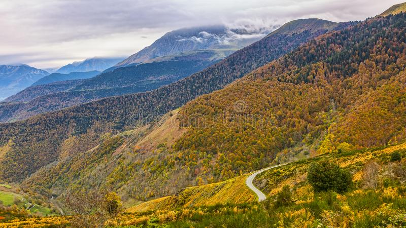 Road in Mountains in Autumn stock photography