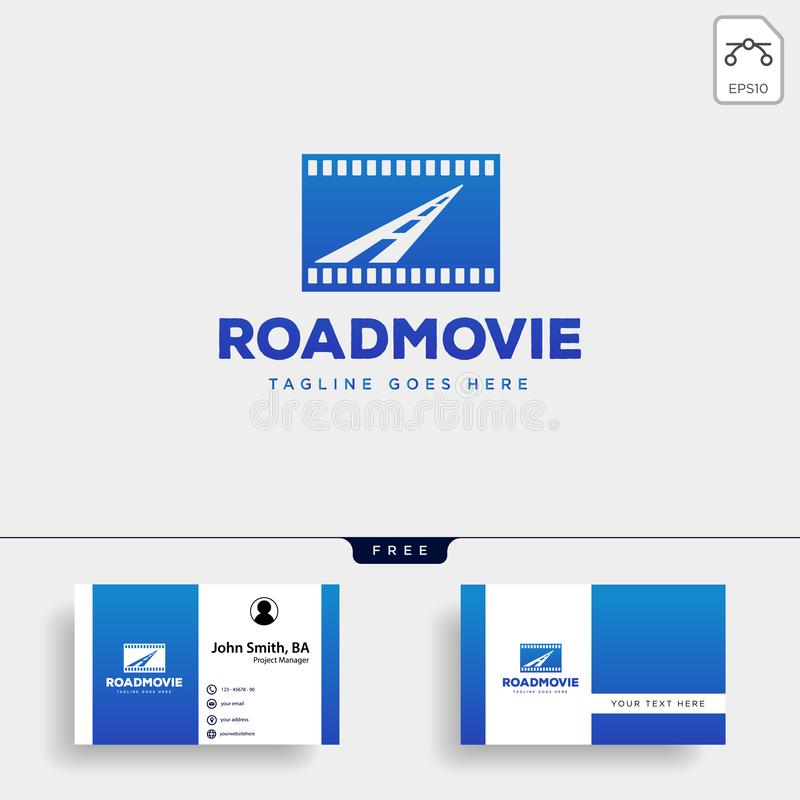 road movie or cinema negative logo template vector illustration icon element isolated vector illustration