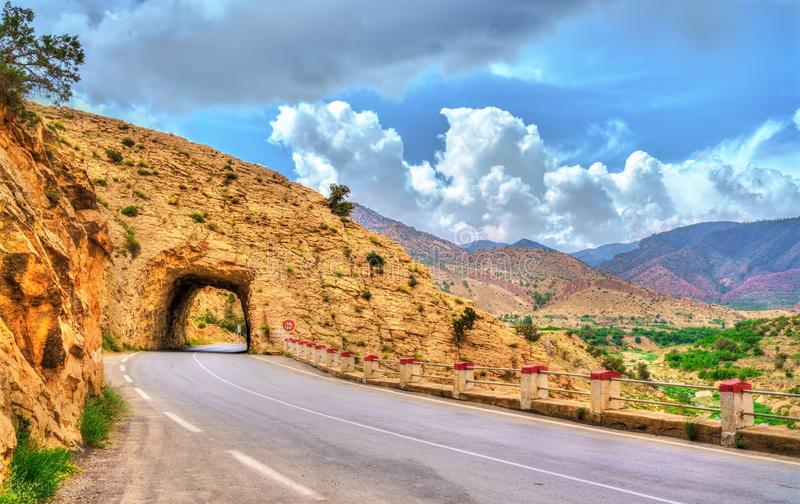 Road N31 in Batna Province of Algeria. North Africa royalty free stock photography