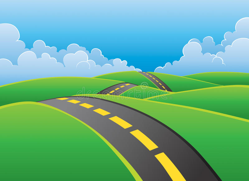 Road Through Nature Background Royalty Free Stock Image