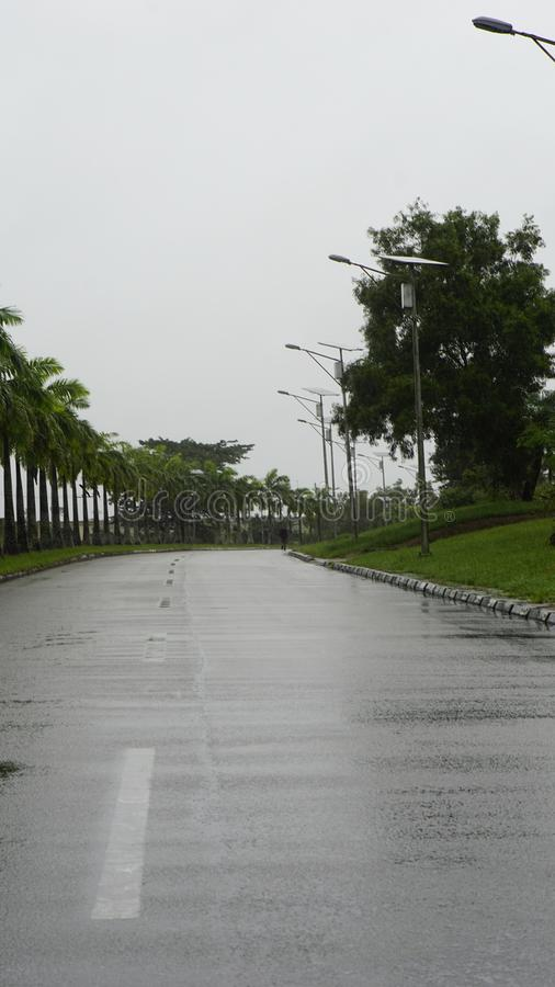 Road in nature. Of this beautiful Resort in Nigeria, Africa royalty free stock images
