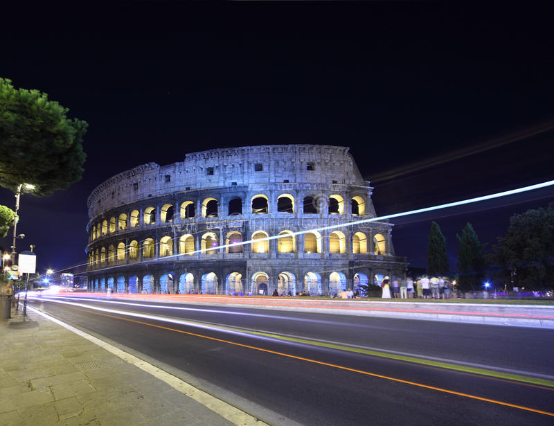 Download Road Near Old Stone Walls Of Coliseum Stock Photo - Image: 18595610