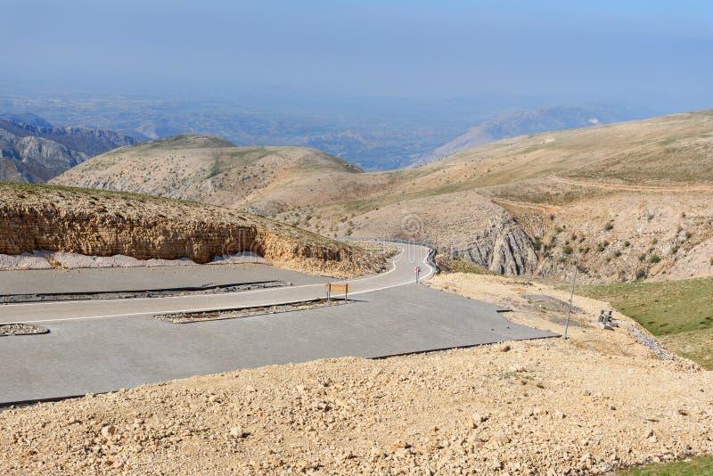 Road on Nemrut Mountain.Turkey royalty free stock images