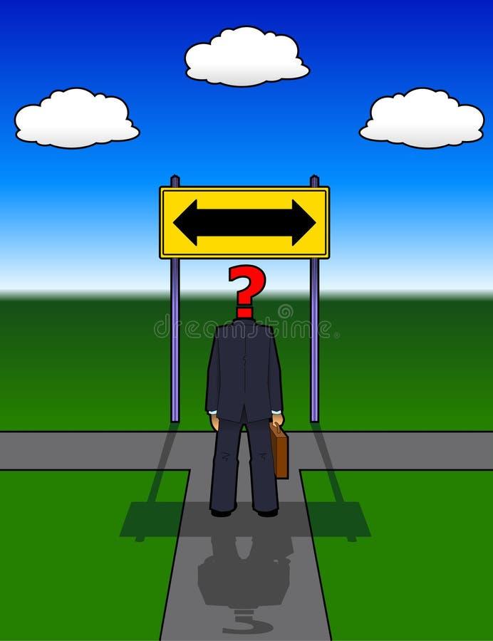 Road_not_taken ilustración del vector