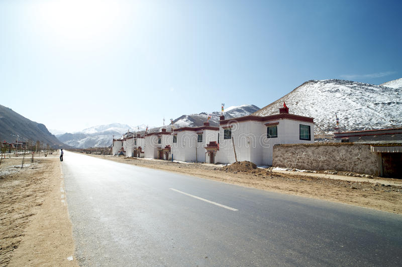 On the road,Nyingchi,Tibet royalty free stock photography