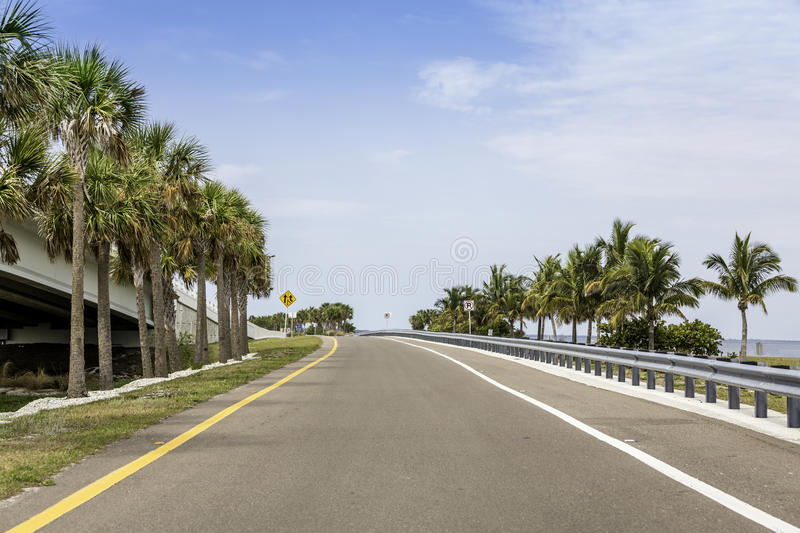 Road by the ocean royalty free stock photos