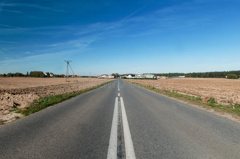 Road over horizon royalty free stock photography