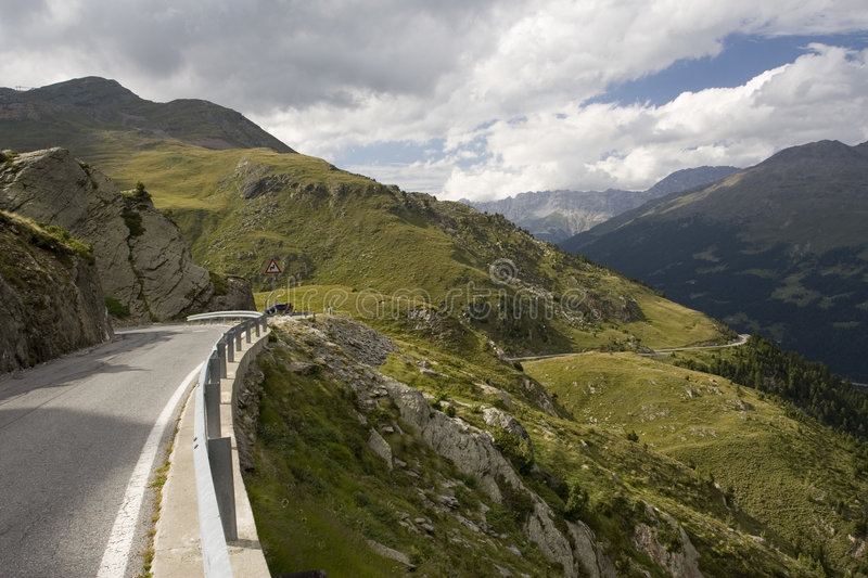 Download Road from Passo Gavia stock photo. Image of wild, green - 7603978