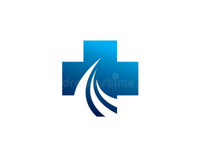 Road path way medical health solution logo royalty free illustration