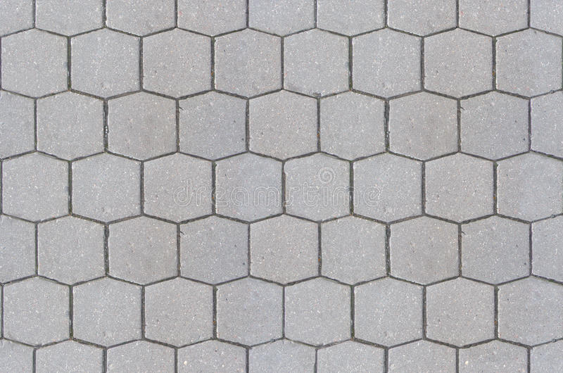 Road Pavement Texture Background Close Up Hexagon