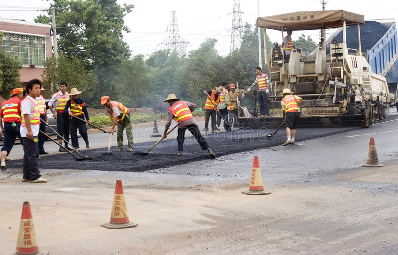 ROAD PAVING Editorial Photo