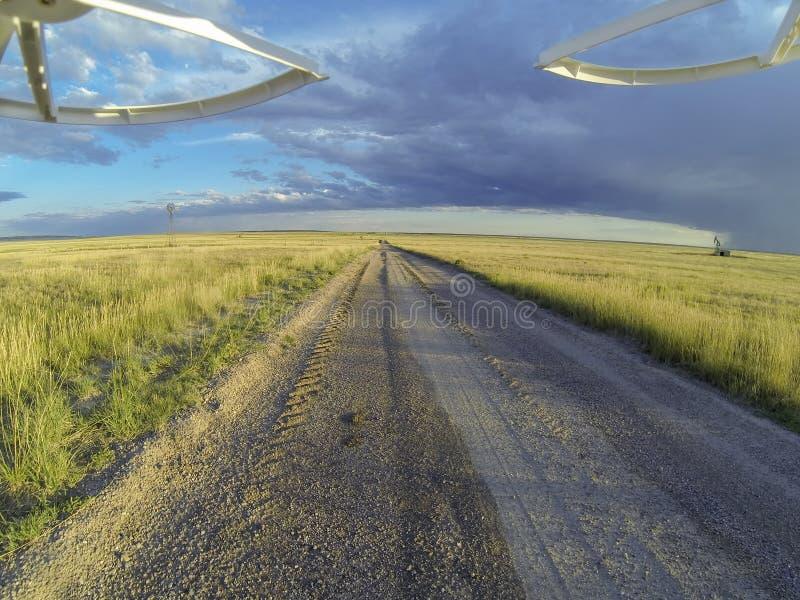 Road in Pawnee Grassland stock photos