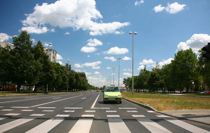 Road pedestrian crossing royalty free stock photo