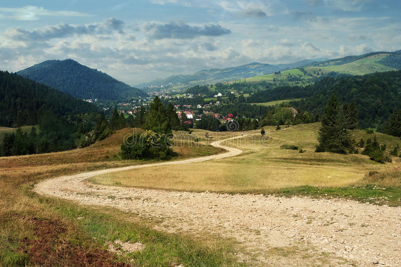 Download Road In Pieniny National Park Stock Image - Image: 27225053