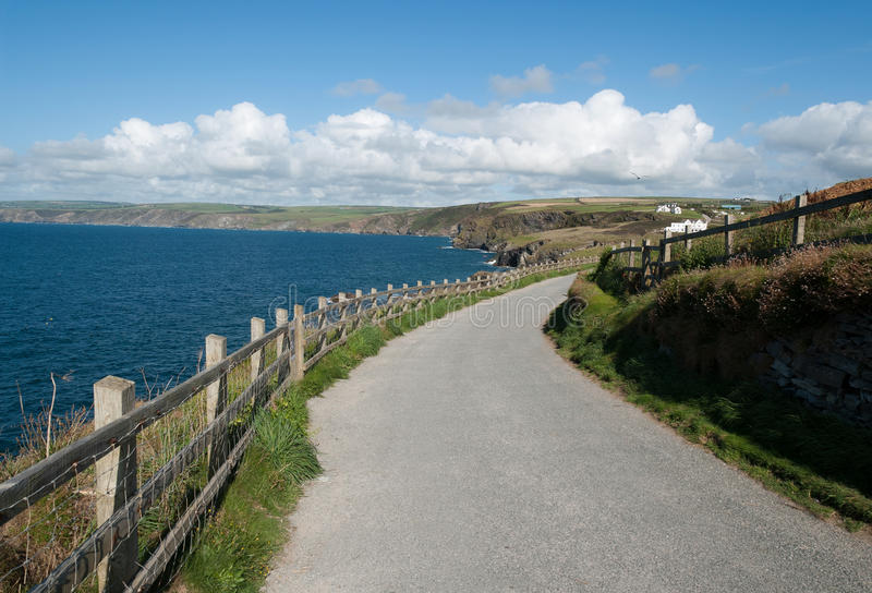 Road in Port Isaac. Road to the sea in Port Isaac in Cornwall royalty free stock photo
