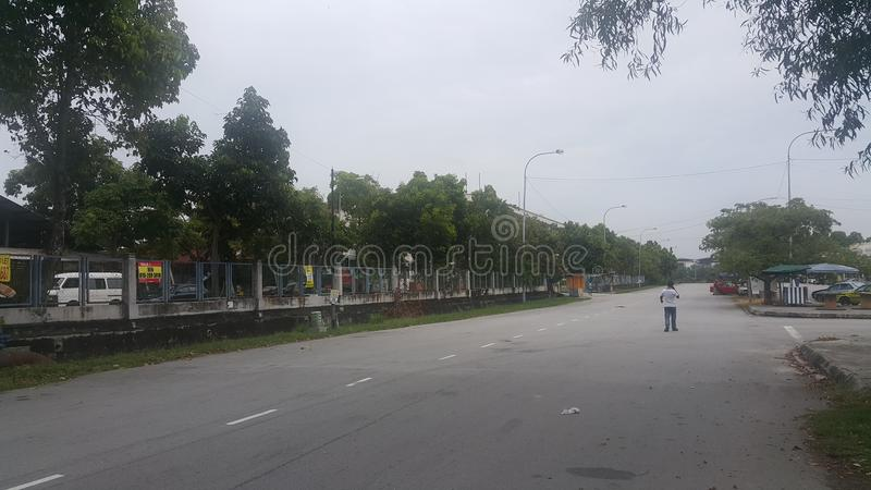 Road of Port Klang Malaysia. Streetview near Port Klang Malaysia royalty free stock photography