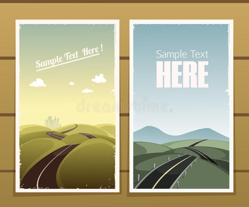 Road Posters royalty free illustration