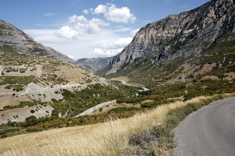 Road through Provo Canyon royalty free stock photo