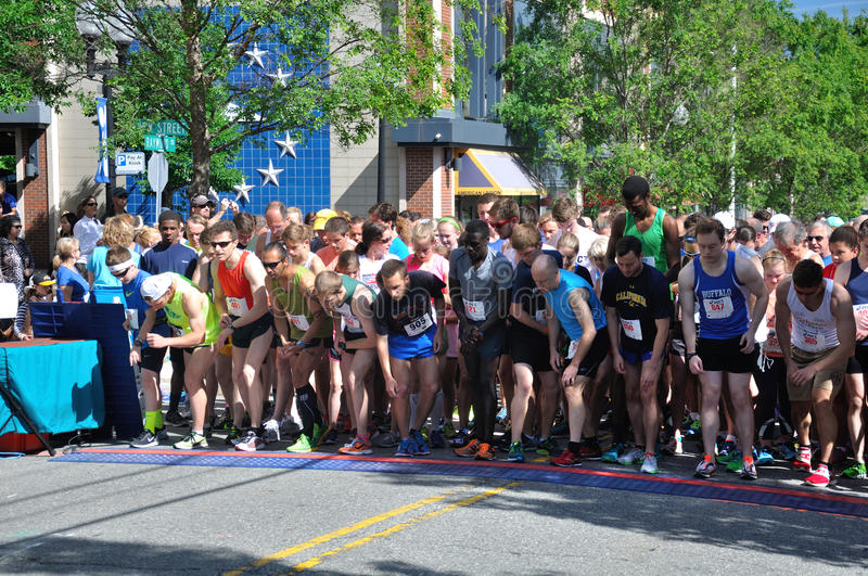 Road Race Starting Line royalty free stock photo