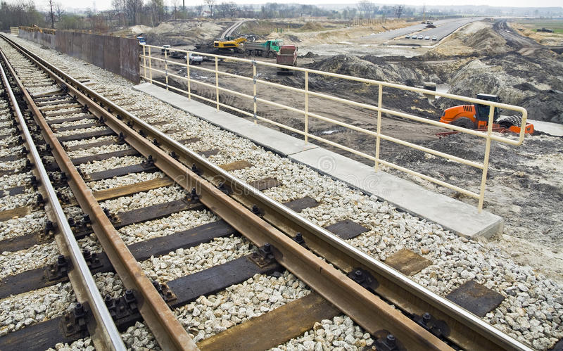 Download Road And Railway Under Construction Stock Image - Image: 30532237