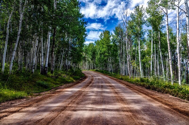 Road receding through countryside royalty free stock images