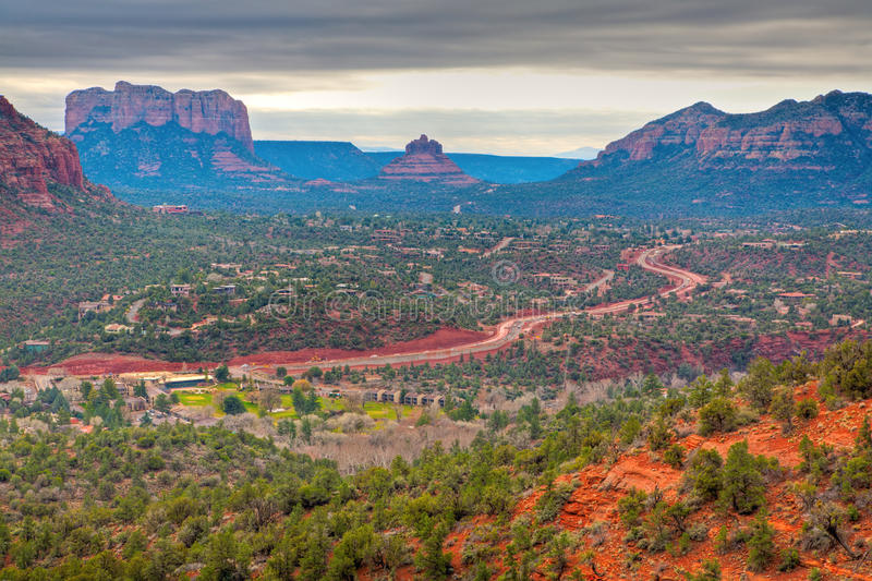 Download Road through Red Rocks stock photo. Image of green, america - 10160858