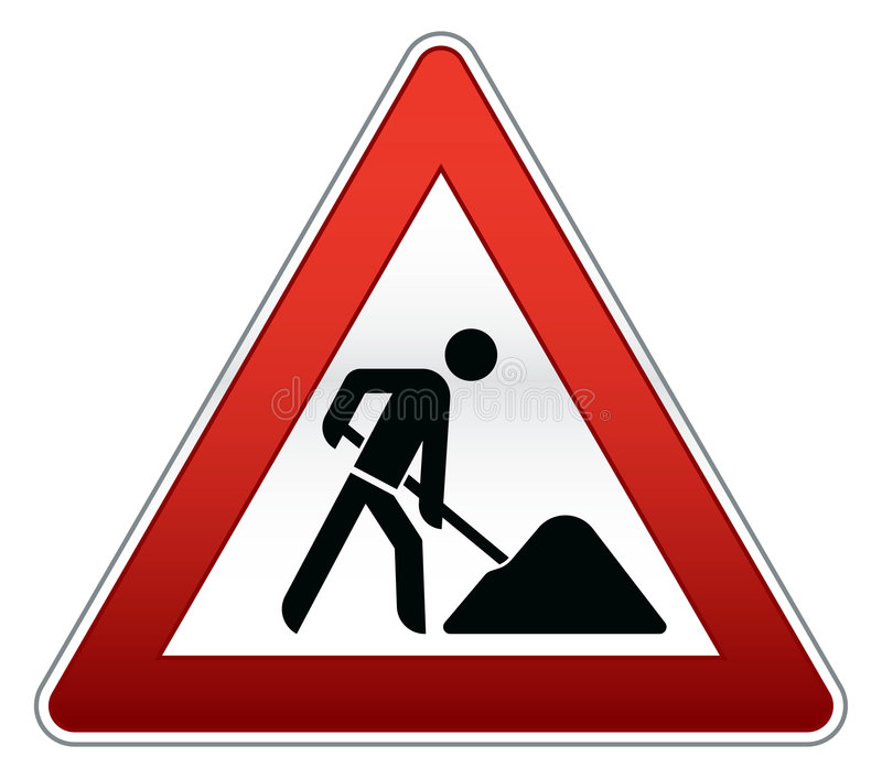 Road repair sign stock illustration