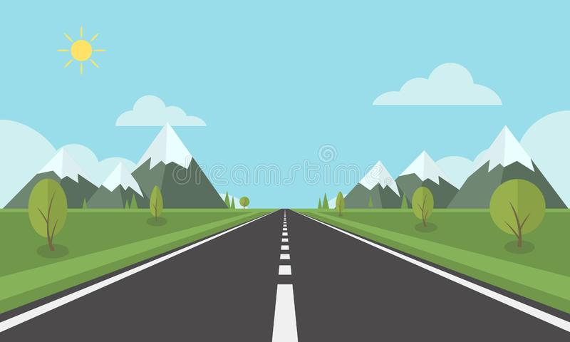 Road 3 stock illustration