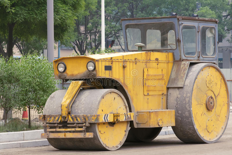 Download Road roller stock photo. Image of closeup, mechanism - 24698106