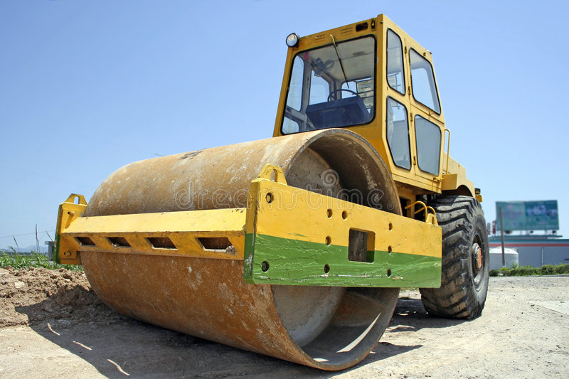 Road roller stock image. Image of occupation, constructing ...