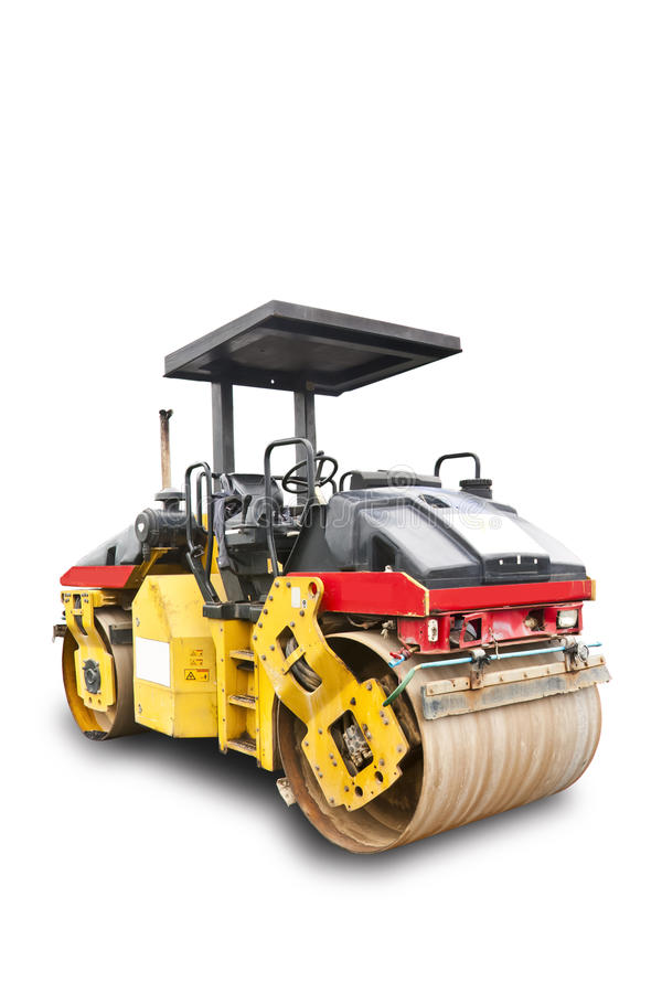Road Roller With Clipping Path Stock Image