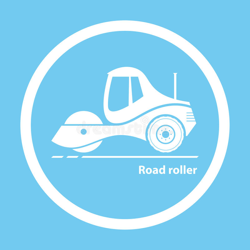 Road roller stock illustration