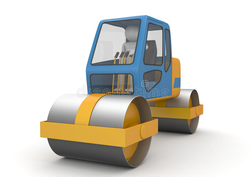 Road roller - Workers stock photography