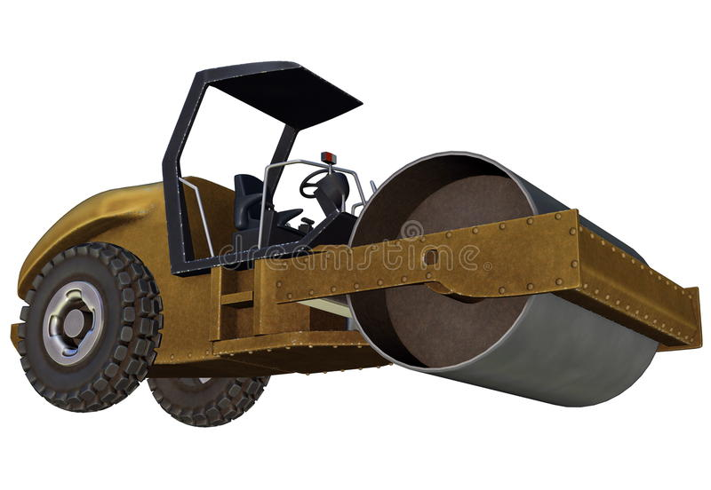Download Road roller stock illustration. Image of roller, route - 31775617