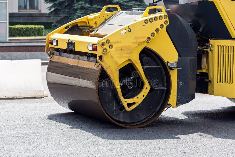 Download Road rollers paving a road stock image. Image of asphalt - 42647823