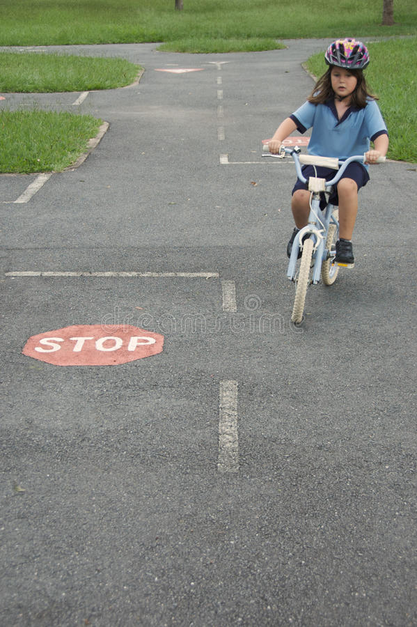 Road rules training stock image