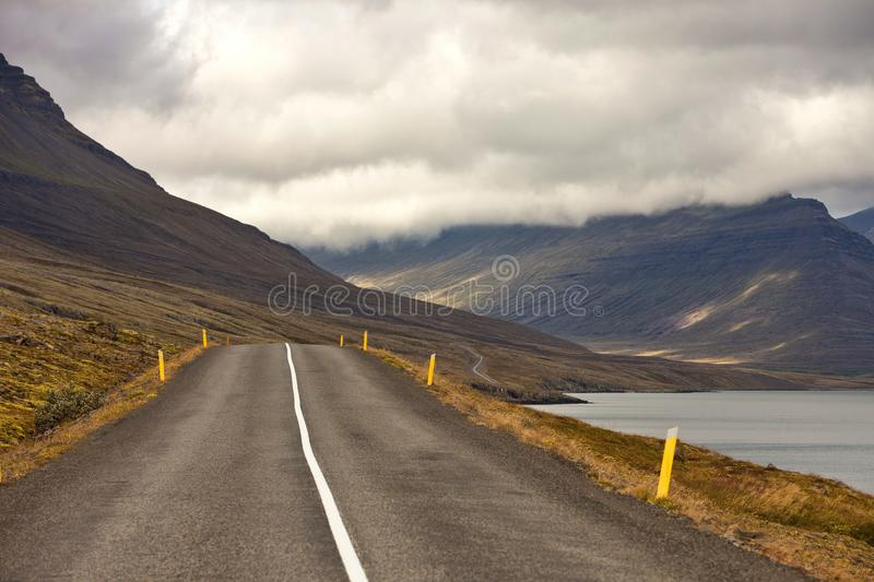 Road through rural landscape of Iceland royalty free stock image