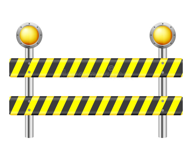 Road safety barrier stock vector illustration of block